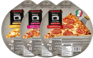 Frozen pizzas format - 25 cm micro