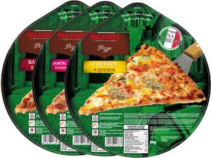 Frozen pizzas family format - 32 cm
