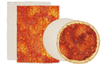 Frozen pizzas bases