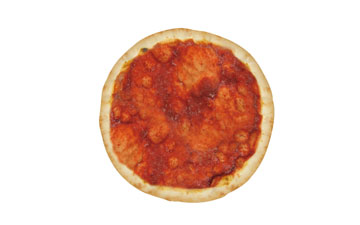Frozen pizza base with tomate 28 cm