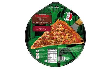 2 Meat and Chorizo Pizza