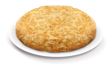 Tortilla with onion gourmet
