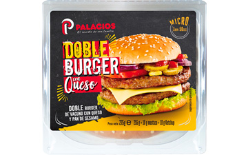 Double beefburger with cheese