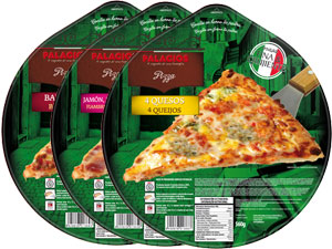 Frozen pizzas family format - 32 cm